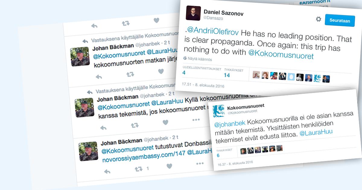 Kokoomusnuoret tuomitsee järjestön nimen yhdistämisen Suomi-Novorossia-Seuraan