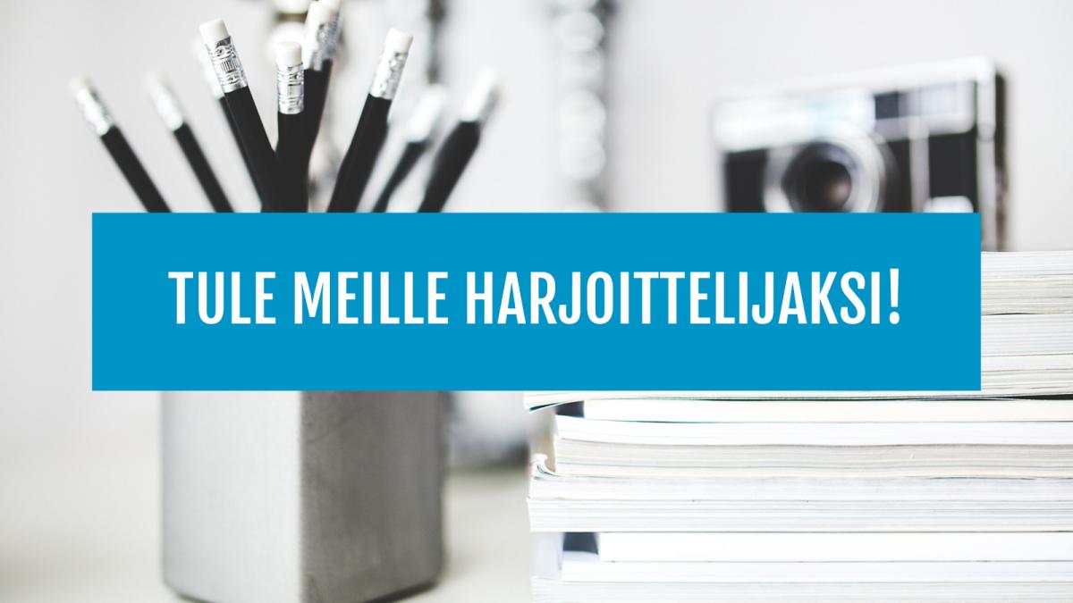 Tule harjoittelijaksi Kokoomusnuorten keskustoimistolle!