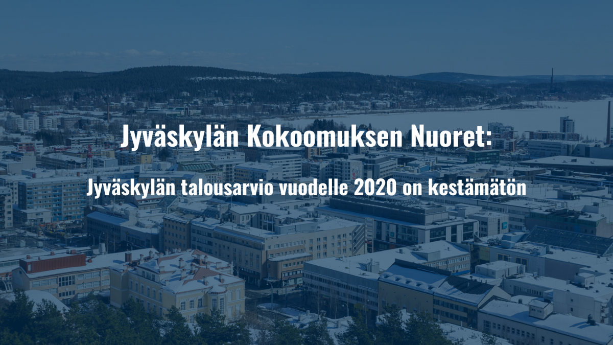 Jyväskylän talousarvio vuodelle 2020 on kestämätön