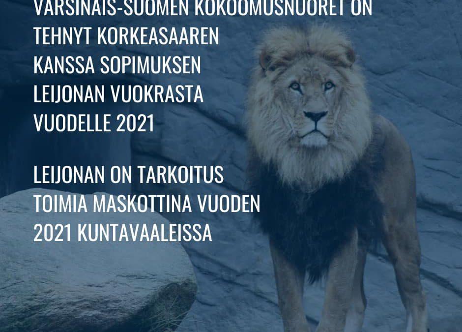 Turun Kokoomuksen Nuoret tuo leijonat Zoolandiaan