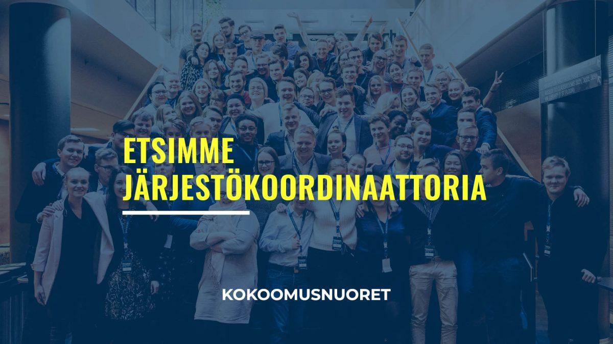 Helsingin Kokoomusnuoret etsii järjestökoordinaattoria