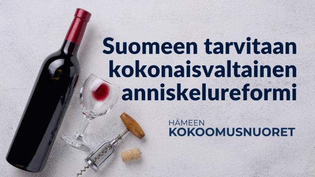 Hämeen Kokoomusnuoret: Suomeen tarvitaan kokonaisvaltainen anniskelureformi