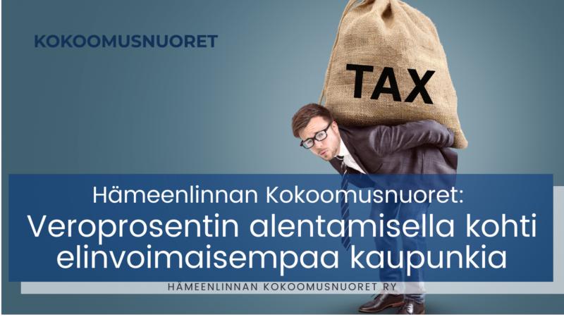 Hämeenlinnan Kokoomusnuoret: Veroprosentin alentamisella kohti elinvoimaisempaa kaupunkia
