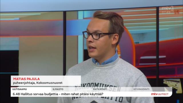 Kokoomusnuoret mediassa: Suomen on otettava roolia ilmastonmuutoksen torjunnassa